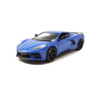 MOTOR MAX MM 79360-BL 2020 CORVETTE C8 BLUE 1/24 DIECAST