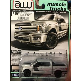 AUTOWORLD AW 04378 2019 Ford F-150 XLT SPORT (ICONIC SILVER)