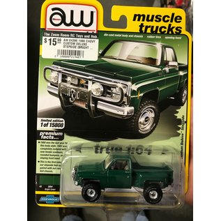 AUTOWORLD AW 04386 1980 CHEVY CUSTOM DELUXE STEPSIDE (BRIGHT GREEN) B