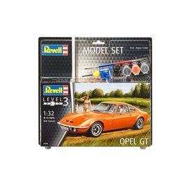 REVELL GERMANY REV 67680 OPEL GT MODEL SET 1:32 SCALE