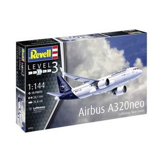 REVELL GERMANY REV 63942 AIRBUS A320 NEO COMPLETE MODEL SET 1:144