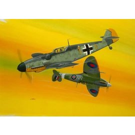 REVELL GERMANY REV 03710 BF109 G-10 & SPITFIRE MK.V KIT 1/72 scale