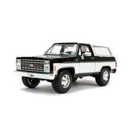 "JADA TOYS JAD 31592DB Jada 1/24 ""Just Trucks"" 1980 Chevy K5 Blazer Stock - Glossy Black DAMAGED BOX"