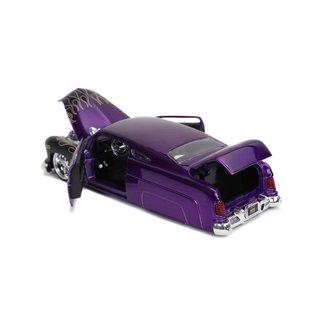 JADA TOYS JAD 32305 1951 MERCURY PURPLE BLACK FLAMES