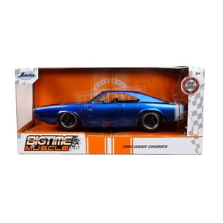 JADA TOYS JAD 31865 1968 Dodge Charger CANDY BLUE 1/24 DIECAST
