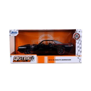JADA TOYS JAD 31460 1973 PLYMOUTH BARRACUDA BLACK