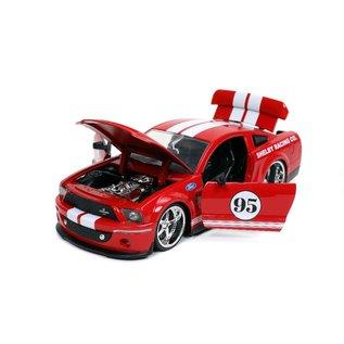 JADA TOYS JAD 31867 2008 FORD SHELBY GT500KR RED