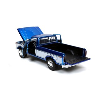 JADA TOYS JAD 32309 1979 Ford F-150 CUSTOM PICKUP CANDY BLUE with tires rack 1/24 die cast