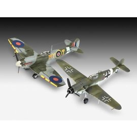 REVELL GERMANY REV 63710 COMBAT SET BF109 G-10 & SPITFIRE MK.V
