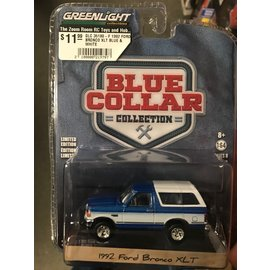 GREENLIGHT COLLECTABLES GLC 35180-F 1992 FORD BRONCO XLT BLUE & WHITE