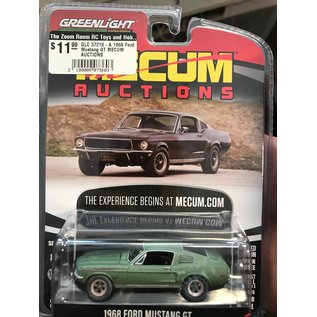 GREENLIGHT COLLECTABLES GLC 37210-A 1968 Ford Mustang GT MECUM AUCTIONS 1/64