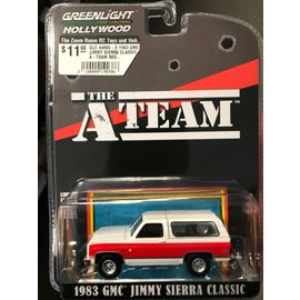 GREENLIGHT COLLECTABLES GLC 44865-E 1983 GMC JIMMY SIERRA CLASSIC A-TEAM RED/WHITE