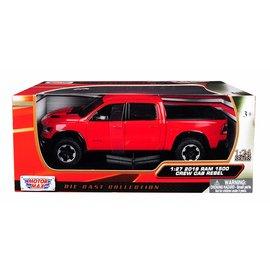 MOTOR MAX MOT 79358RD 2019 Dodge Ram 1500 CREW CAB REBEL 1/24 DIECAST RED