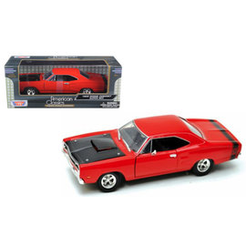 MOTOR MAX MM 73315RD 1969 DODGE CORONET SUPER BEE RED 1/24 DIECAST