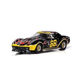 SCALEXTRIC SCA C4107 CHEVROLET CORVETTE NO.66 FLAMES