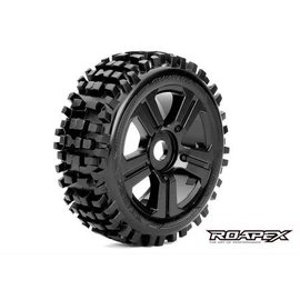 ROAPEX ROP R5002-B RHYTHM MOUNTED 1/8 BUGGY WHEEL/TIRE 17MM HEX