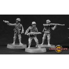 REAPER REA 50020 ZOMBIE GERMAN SOLDIER (3) METAL FIGURES