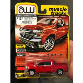AUTOWORLD AW 04382DB 2019 CHEVROLET SILVERADO LTZ Z71 (RED HOT) 1/64