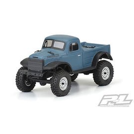 Proline Racing PRO 3565-00 1946 DODGE POWER WAGON LEAR BODY FOR SCX24 JLU (OTHER SCX24 MODELS REQUIRE AXIAL BODY MOUNTS)