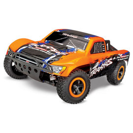 TRAXXAS TRA 68086-4-ORNG Slash 4X4: 1/10 Scale 4WD Electric Short Course Truck with TQi Traxxas Link Enabled 2.4GHz Radio System & Traxxas Stability Management