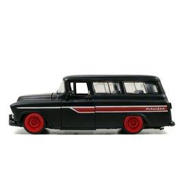 JADA TOYS JAD 97686 1957 CHEVY SUBURBAN PRIMER BLACK 1/24 die cast
