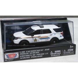 MOTOR MAX M/M 79479 RCMP 2015 FORD POLICE INTERCEPTOR UTILITY 1/43 DIECAST