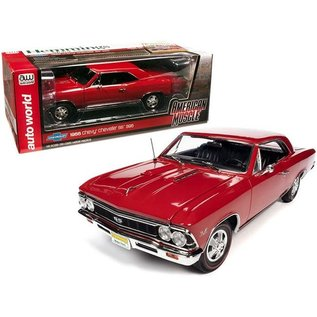 AUTOWORLD AMM 1233  1966 CHEVY CHEVELLE SS 396 RED