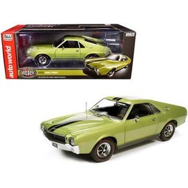 AUTOWORLD AMM 1214 1968 AMC AMX GREEN 1/18  DIECAST