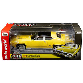 AUTOWORLD AMM 1186 1971 PLYMOUTH GTX LEMON TWIST (MCACN)