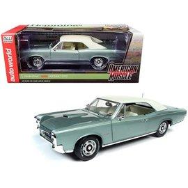 AUTOWORLD AMM 1192 1966 PONTIAC GTO GREEN 1/18 DIECAST
