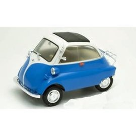 WELLY WEL 24096W-BL BMW ISETTA BLUE/WHITE 1/18 SCALE