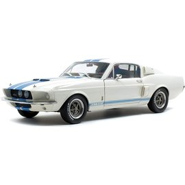 SOLIDO SOL S1802901 1967 SHELBY MUSTANG GT500 WHITE W/BLUE STRIPES