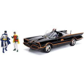 JADA TOYS JAD 98625 CLASSIC TV SERIES BATMOBILE WITH DIE CAST FIGURES 1/18 SCALE