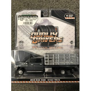 GREENLIGHT COLLECTABLES GLC 46060-E 2018 RAM 3500 - STAKE TRUCK DUALLY DRIVERS SERIES 6