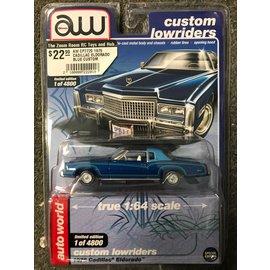 AUTOWORLD AW CP7720 1975 CADILLAC ELDORADO BLUE CUSTOM LOWRIDERS