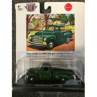 GREENLIGHT COLLECTABLES M2 11228-A 1950 STUDEBAKER 2R TRUCK GREEN