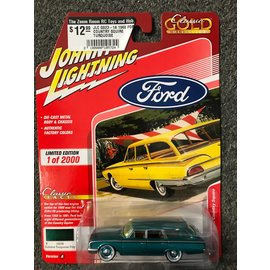 JOHNNY LIGHTNING JLC G023-1A 1960 FORD COUNTRY SQUIRE TURQUOISE