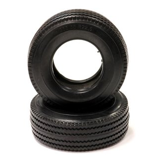 INTEGY INT C24021 Type I All Terrain Wide Front Rubber Tire (2) HD for Tamiya 1/14 Tractor Truck