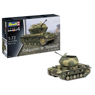 "REVELL GERMANY REV 03286 FLAKPANZER III ""OSTWIND"" 1/72 model kit"