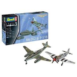 REVELL GERMANY REV 03711 ME262 & P-51B COMBAT SET 1:72 MODEL KIT