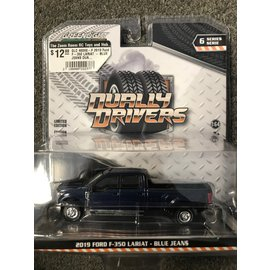 GREENLIGHT COLLECTABLES GLC 46060-F 2019 Ford F-350 LARIAT - BLUE JEANS DUALLY DRIVERS SERIES 6