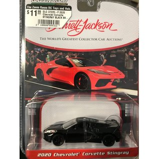 GREENLIGHT COLLECTABLES GLC 37220-F 2020 Chevrolet Corvette STINGRAY BLACK BARRETT-JACKSON 6