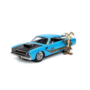 JADA TOYS JAD 32038 WILE E. COYOTE &1970 PLYMOUTH ROAD RUNNER BLUE