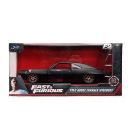 JADA TOYS JAD 32614 DOM'S 1968 Dodge Charger WIDEBODY BLACK FAST & FURIOUS