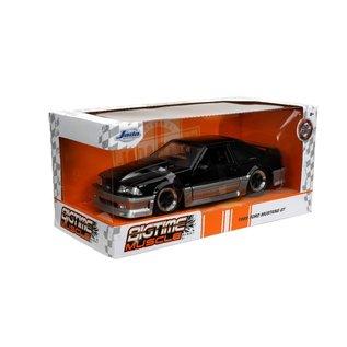 JADA TOYS JAD 32667 1989 Ford Mustang GT CANDY BLACK 1:24 die cast