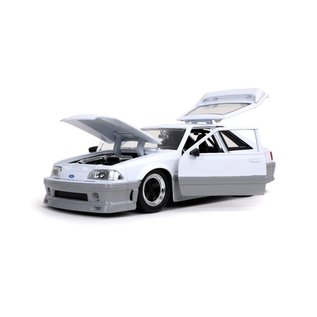 JADA TOYS JAD 32668 1989 Ford Mustang GT CANDY WHITE 1:24 die cast