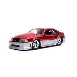 JADA TOYS JAD 32666 1989 Ford Mustang GT CANDY RED 1:24 DIECAST