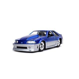 JADA TOYS JAD 32670 1989 Ford Mustang GT CANDY BLUE 1:24 die cast