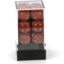 CHESSEX CHX 27614 SCARAB SCARLET/GOLD 12 DICE PACK