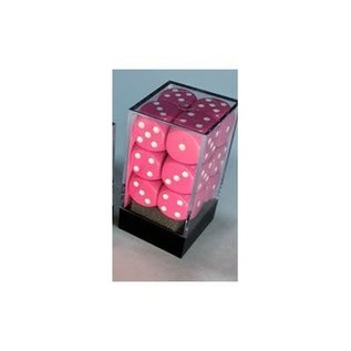 CHESSEX CHX 25644 PINK 6 SIDE DICE 12 PACK